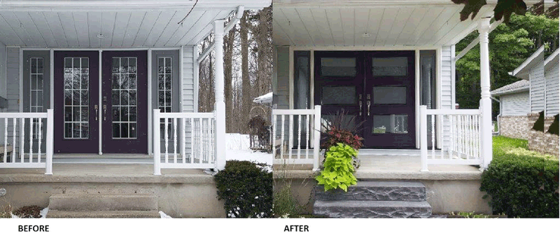 door renovation before and after