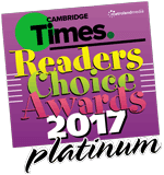 Cambridge Times – Readers' Choice Awards 2017 - Platinum