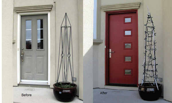door before and after